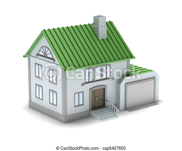 Small family house  3D image  Isola
