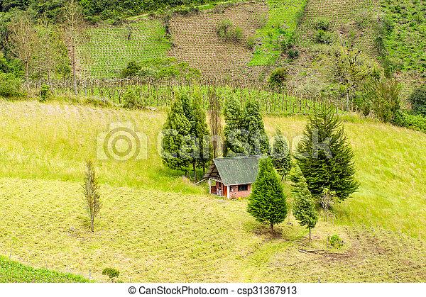Small Farm House Aerial View - csp31367913