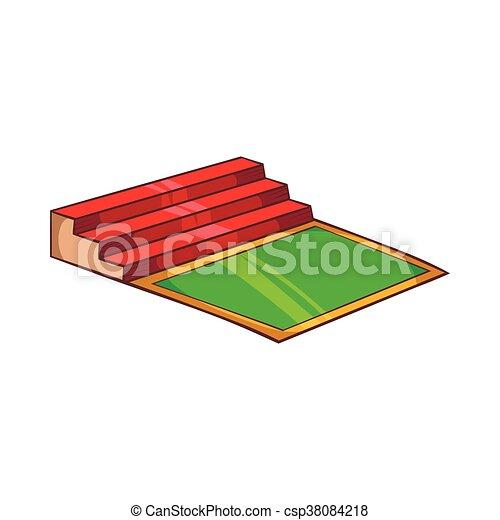 Small football stadium icon, cartoon style - csp38084218