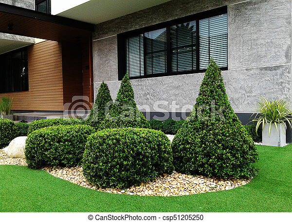 Small garden in front of the house - csp51205250