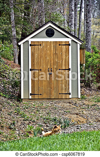 Small Garden Shed   Csp6067819