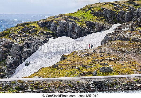 Small glacier in Norway - csp41351012