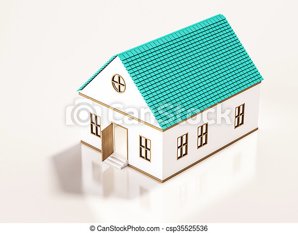 Small house, 3d rendered - csp35525536