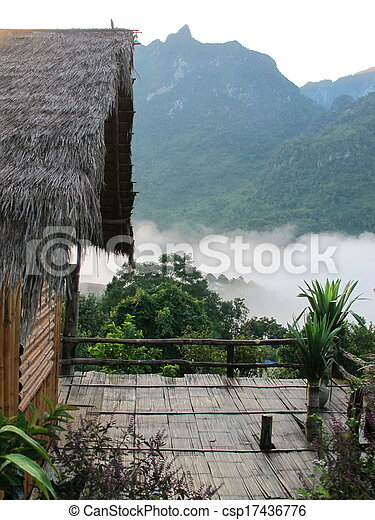 small house in Chiang Mai, Thailand - csp17436776