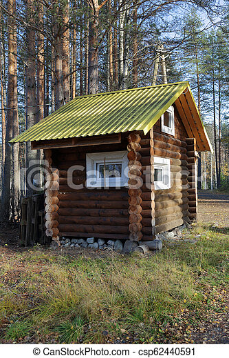 Small house in the forest - csp62440591