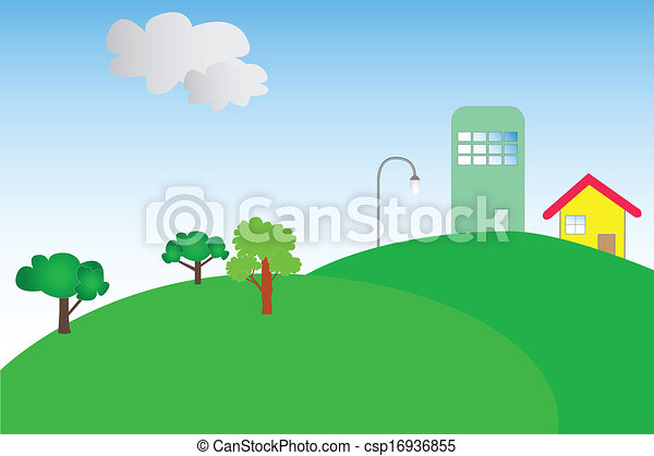 Small house on a hill - csp16936855