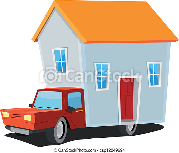 small house on delivery truck illustration of a cartoon mobile home rh canstockphoto com mobile home park clipart mobile home pictures clip art