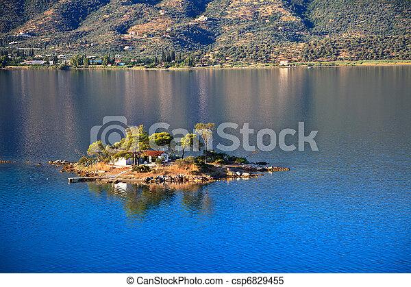 Small island in Aegean sea - csp6829455