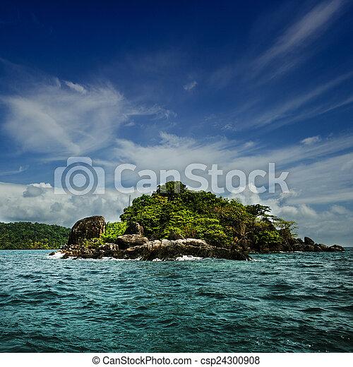 Small island in the sea - csp24300908