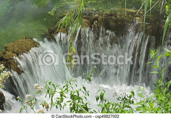 Small Krka Waterfall - csp49827002