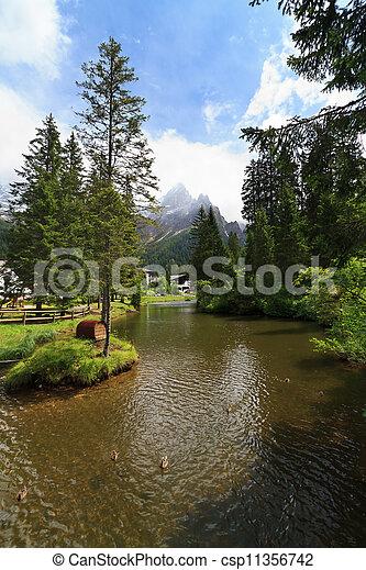 small lake in San Martino di Castrozza - csp11356742