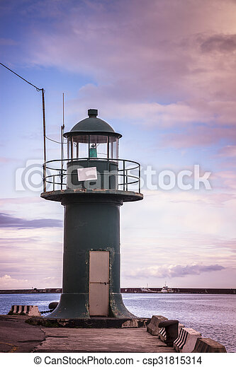 Small lighthouse in Genoa - csp31815314