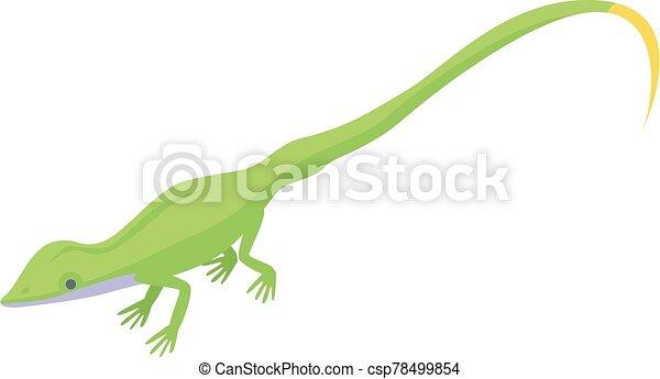 Small lizard icon, isometric style - csp78499854