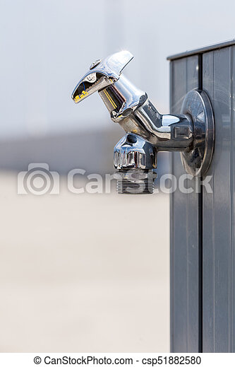 Small Metal Tap Water Outside   Csp51882580