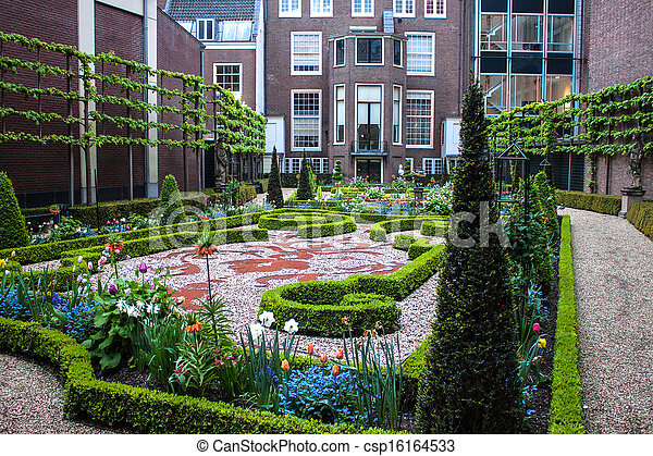 Small park in Amsterdam - csp16164533