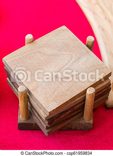 Small piece of cut wood logs - csp61959834