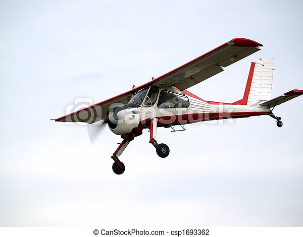 Small plane on glideslope - csp1693362