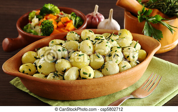 Small Potatoes with Herbs - csp5802712
