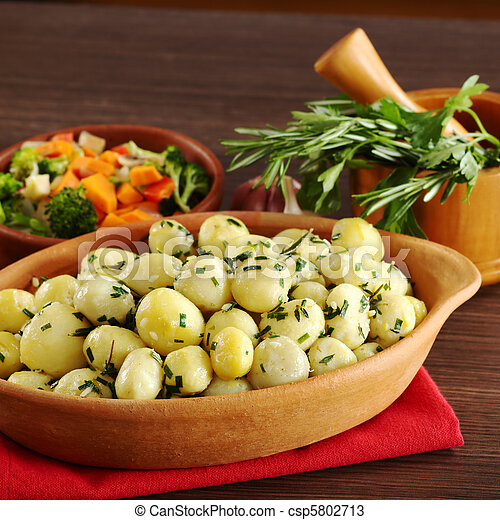 Small Potatoes with Herbs - csp5802713