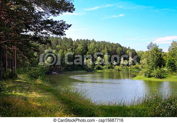 Small River Nature Landscape - csp15687716