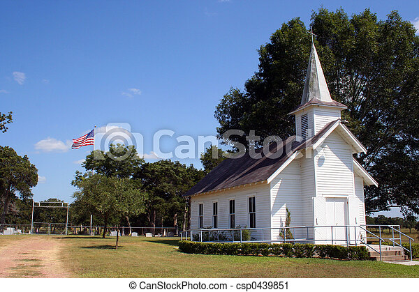 Small Rural Church in Texas - csp0439851