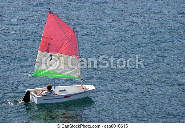 Small Sailing Boat - csp0010615