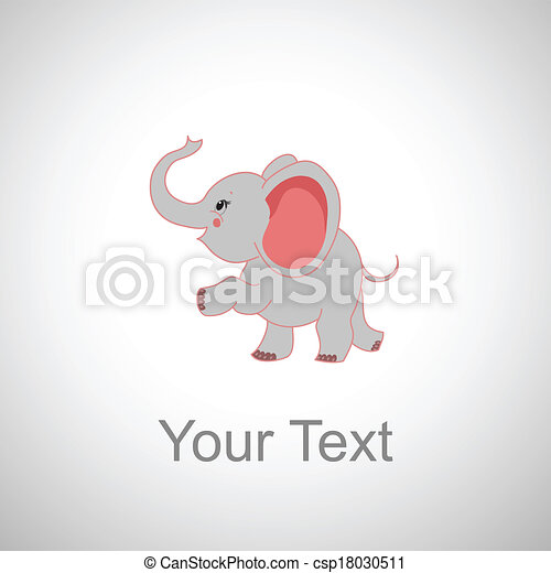 Smiling Baby Elephant Cartoon