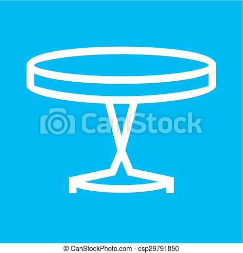 Small Table Side Icon Vector Imagecan Also