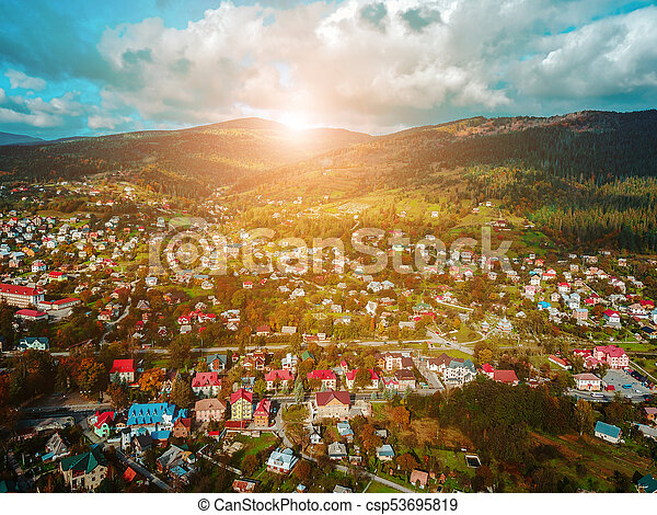 small town in the countryside - csp53695819