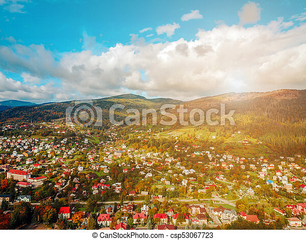 small town in the countryside - csp53067723