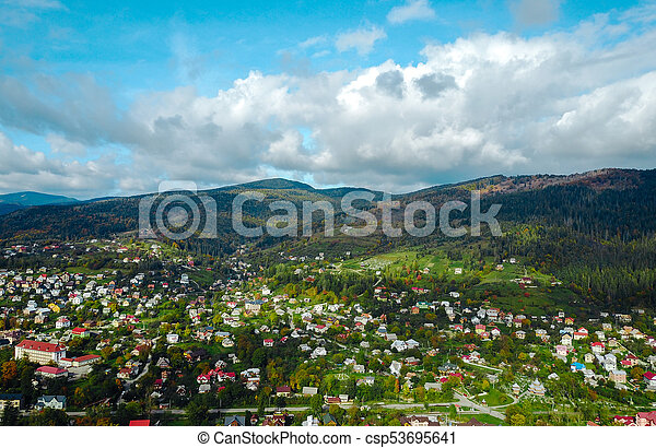 small town in the countryside - csp53695641