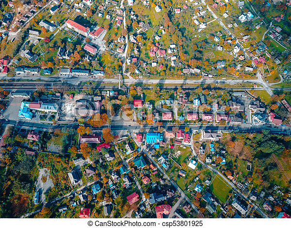 small town in the countryside - csp53801925