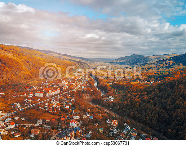 small town in the countryside - csp53067731