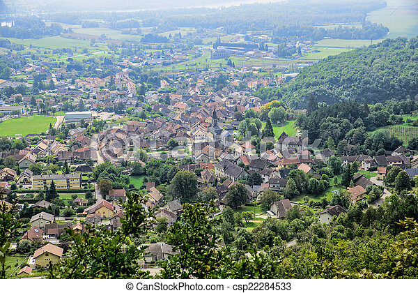 Small town in the French Alps - csp22284533