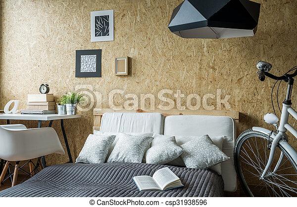 Small trendy bedroom - csp31938596