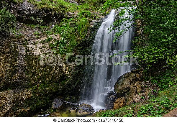 small veil waterfall detail - csp75110458