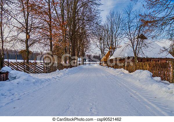 Small Village in Winter Season - csp90521462