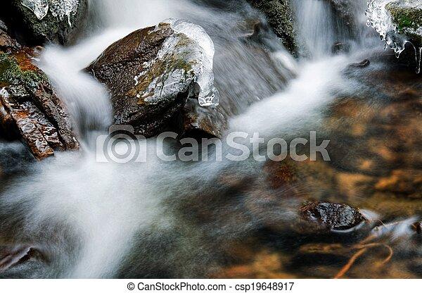 Small waterfall detail - csp19648917