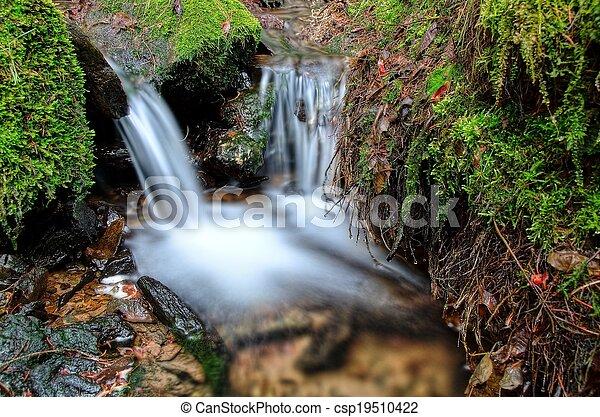 Small waterfall detail - csp19510422