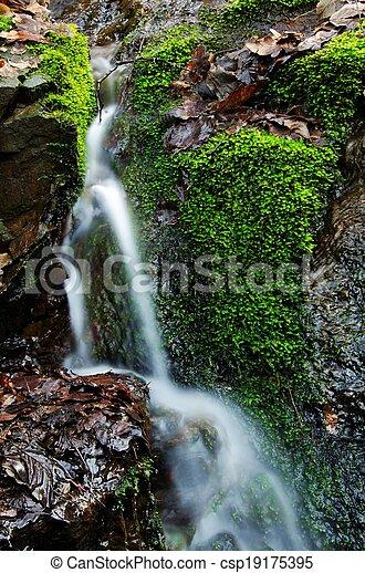 Small waterfall detail - csp19175395