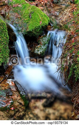 Small waterfall detail - csp19379134