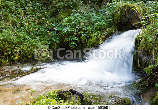 small waterfall on the river - csp41593581