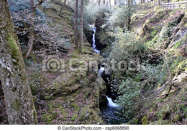 small waterfall - csp6068890