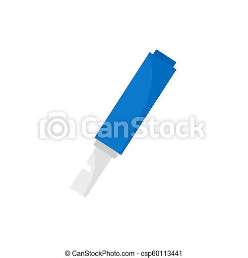 Small whistle icon, flat style - csp60113441