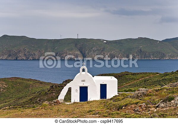 Small whitewashed church - csp9417695