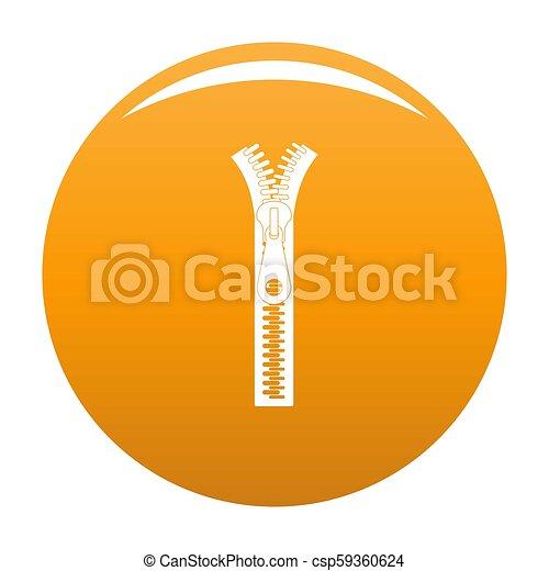Small zip icon orange - csp59360624