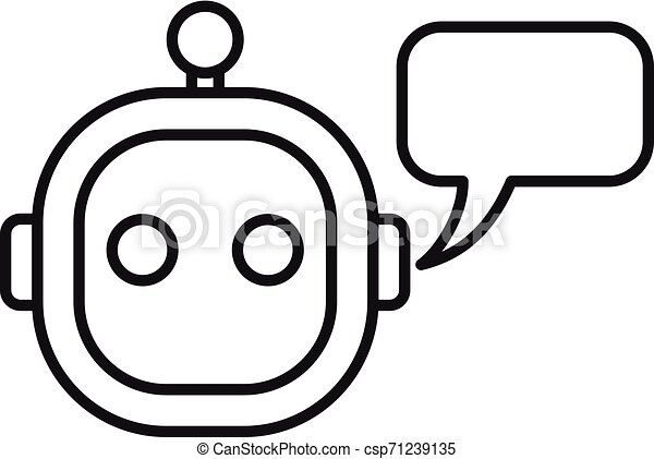 Smart chatbot icon, outline style - csp71239135