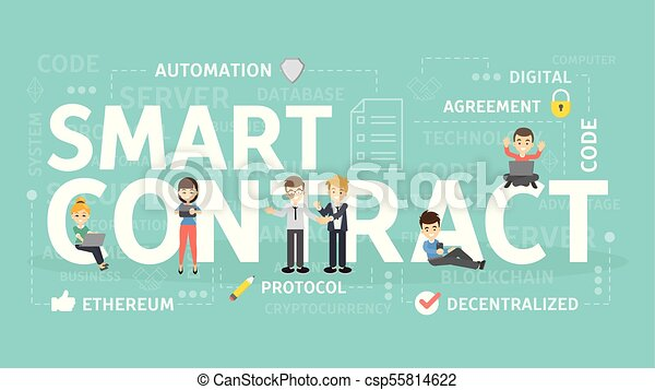 Smart Contract Concept Smart Contract Concept Illustration