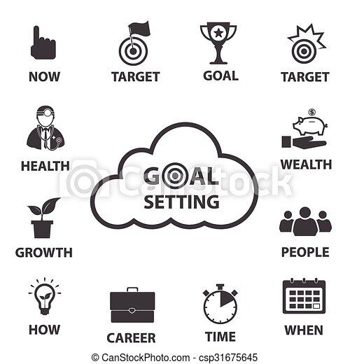 Smart goal setting concept - csp31675645