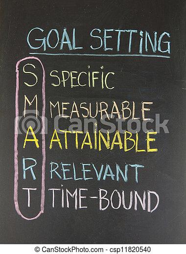 smart goal setting concept - csp11820540